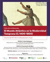 Ciclo de conferencias: EL MUNDO ATLÁNTICO EN LA MODERNIDAD TEMPRANA