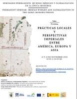 Seminario permanente. Mundos ibéricos y globalización en la época moderna: Prácticas locales y perspectivas imperiales entre América, Europa y Asia
